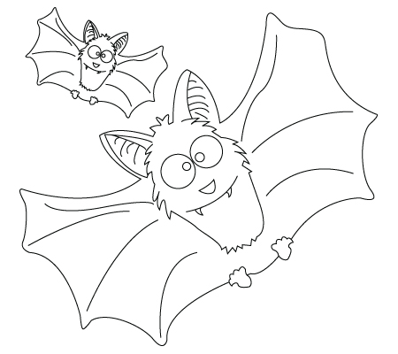 Bat coloring sheet
