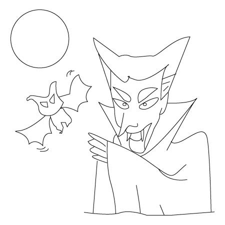 Dracula coloring sheet