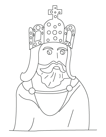 King coloring sheet