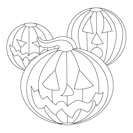 Pumpkin decorative coloring sheet