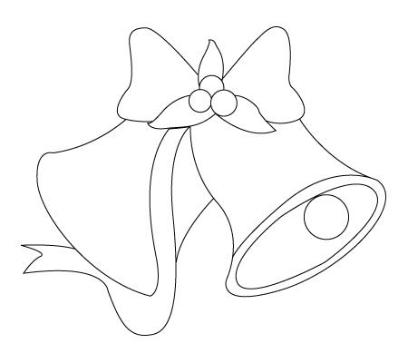 Christmas bell coloring sheet
