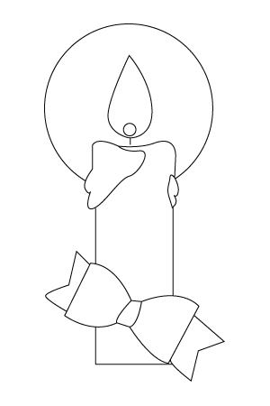 Christmas candlelight coloring sheet