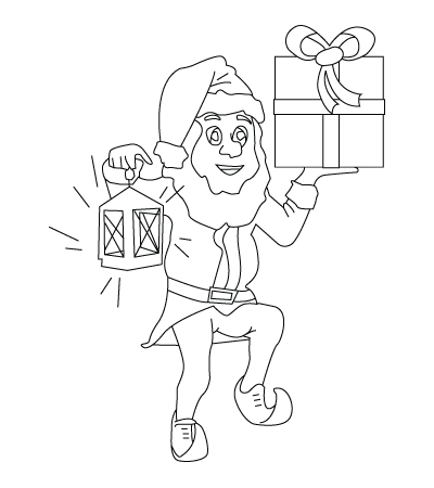 Christmas elf coloring sheet