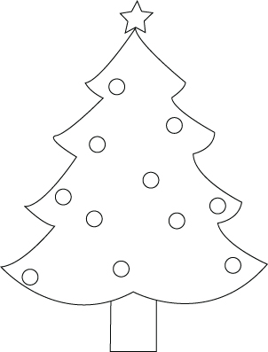 Christmas fir-tree coloring sheet