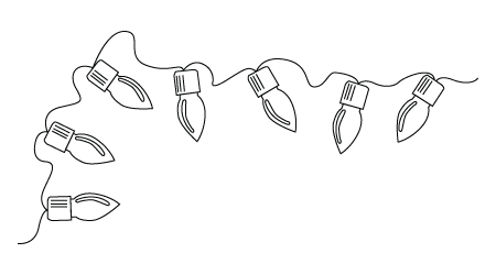 String Of Lights Coloring Page : Christmas Coloring drawing