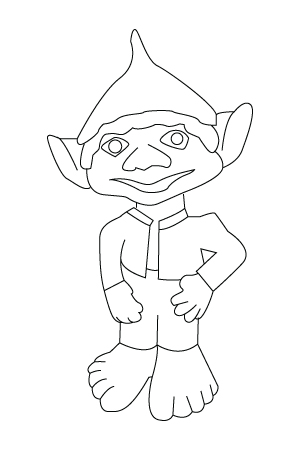 Dwarf coloring sheet