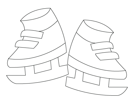 Ice skates coloring sheet