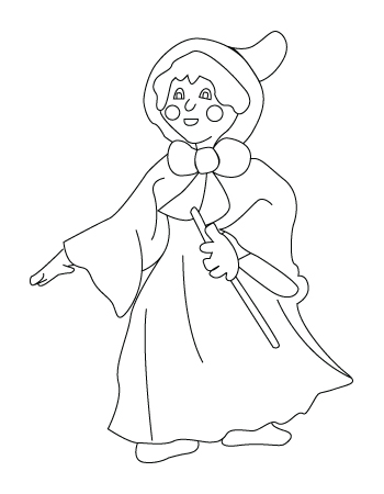 Mother Claus coloring sheet
