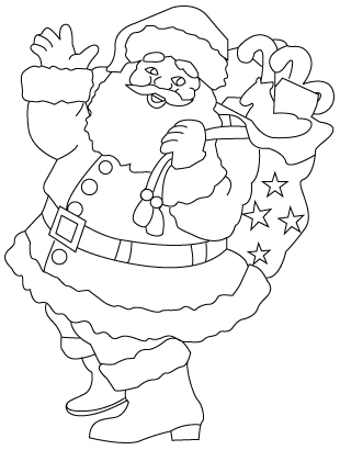 Santa Claus coloring sheet