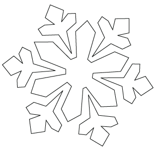 Snowflake coloring sheet