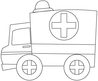 Ambulance coloring sheet