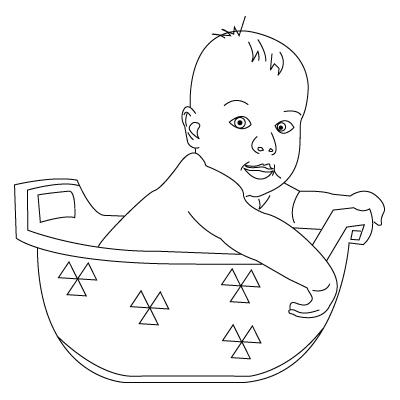 Baby coloring sheet