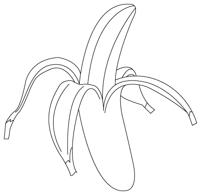 Banana coloring sheet