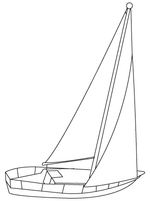 Boat coloring sheet