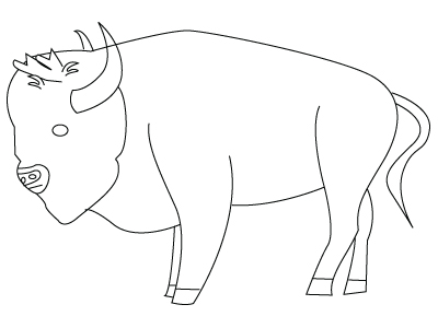 Buffalo coloring sheet