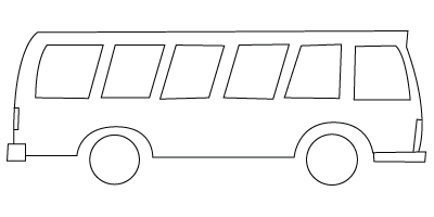 Bus coloring sheet