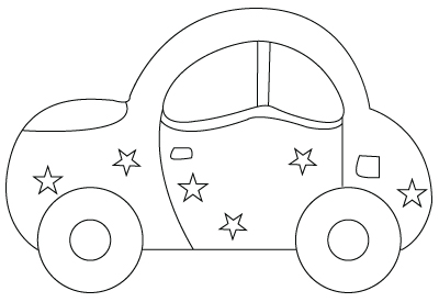 car coloring sheet - Kids Drawing Sheet