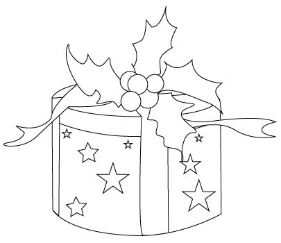 Christmas present coloring sheet