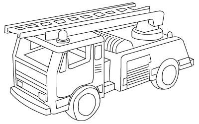 Fireman truck coloring sheet