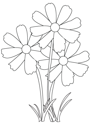 Flower bouquet coloring sheet
