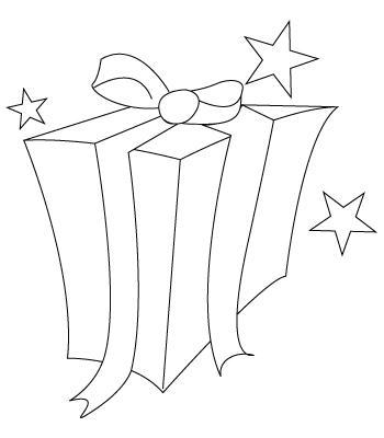 Gift coloring sheet