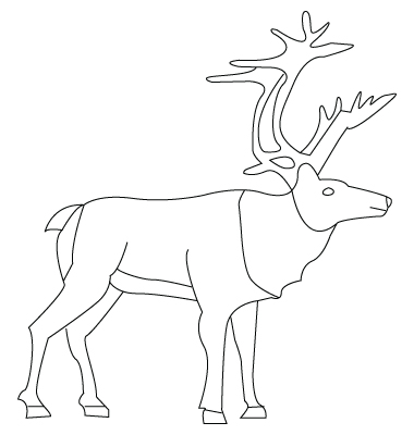 Moose coloring sheet
