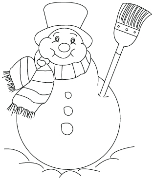 Snow man coloring sheet