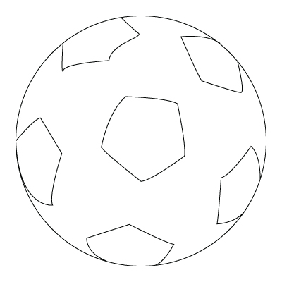 Soccer ball coloring sheet