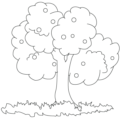 Tree coloring sheet