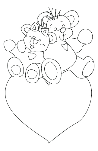 Here is a Valentine's Day teddy bear coloring sheet.