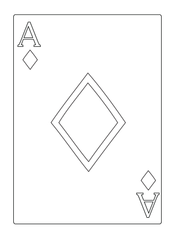 Ace of diamond coloring sheet