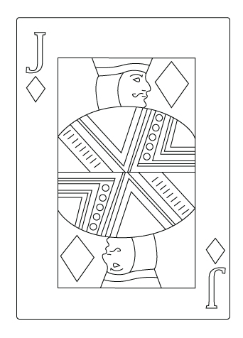 Jack of diamond coloring sheet