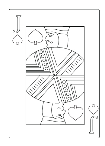 Jack of spade coloring sheet