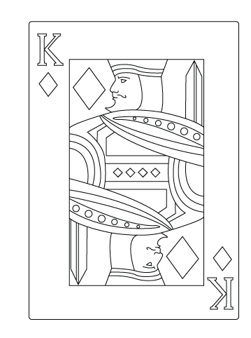 King of diamond coloring sheet