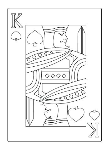 King of spade coloring sheet
