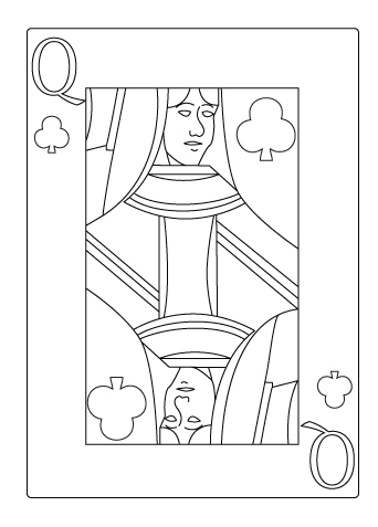 Queen of clover flower coloring sheet