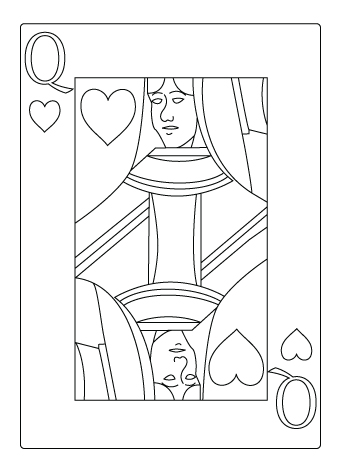 Queen of heart coloring sheet