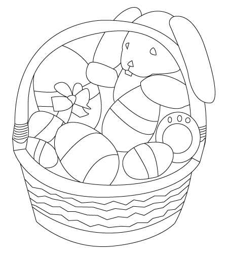 Basket coloring sheet