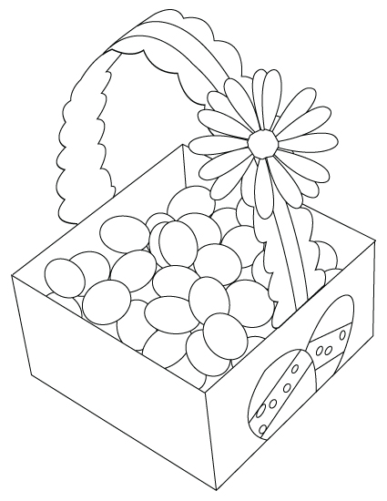Easter egg basket coloring sheet