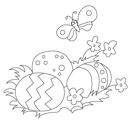 Easter egg coloring sheet
